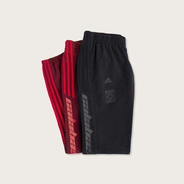 b42ba16f1 Adidas Yeezy Calabasas Track Pants Black Maroon 100% Authentic Brand ...