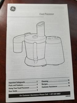 GE 4 Speed Food Processor. Very clean and in perfect working condition. Thumbnail