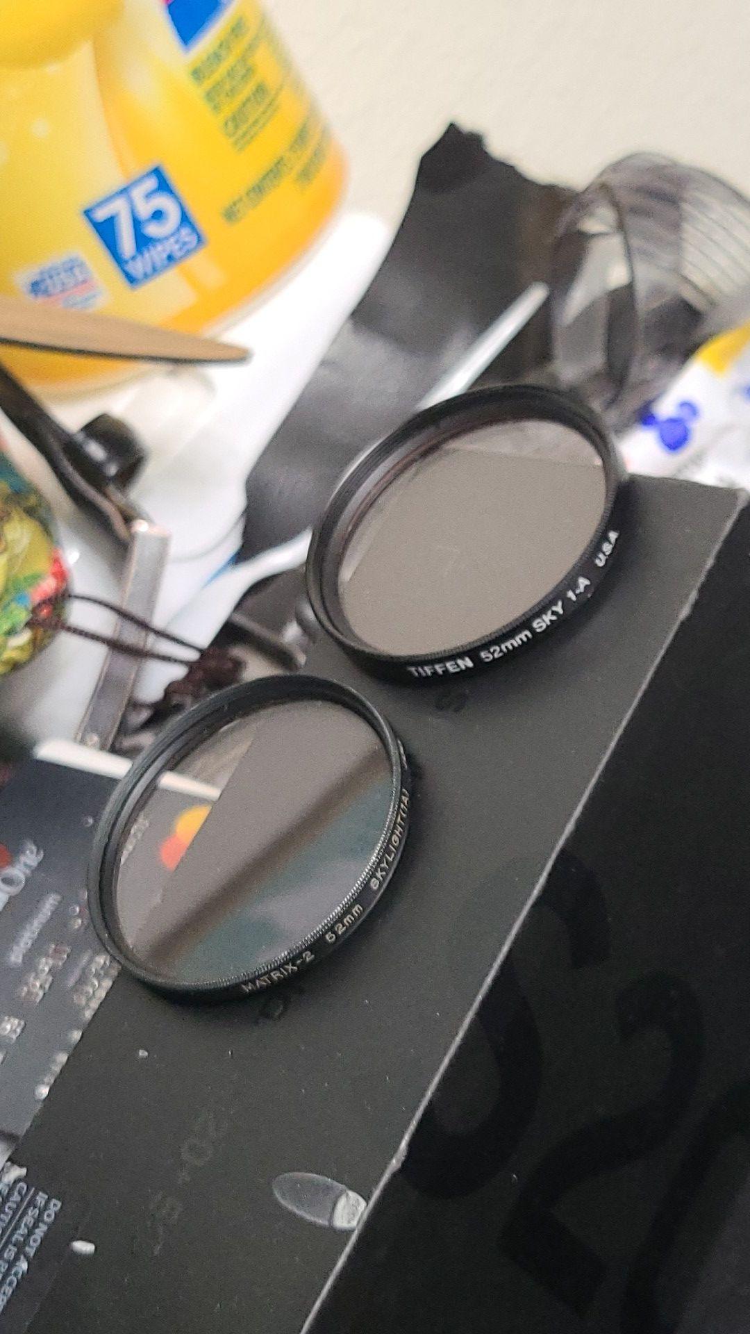2 52mm DSLR lens filters Matrix-2 & Tiffen