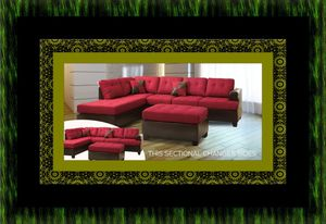 Red sectional with ottoman for Sale in Temple Hills, MD