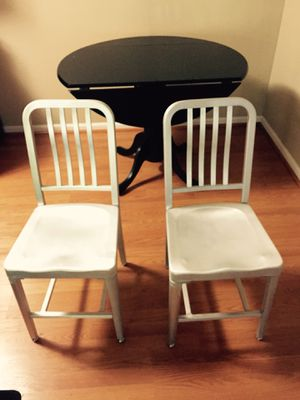 Dining Chairs - brushed metal for Sale in Washington, DC