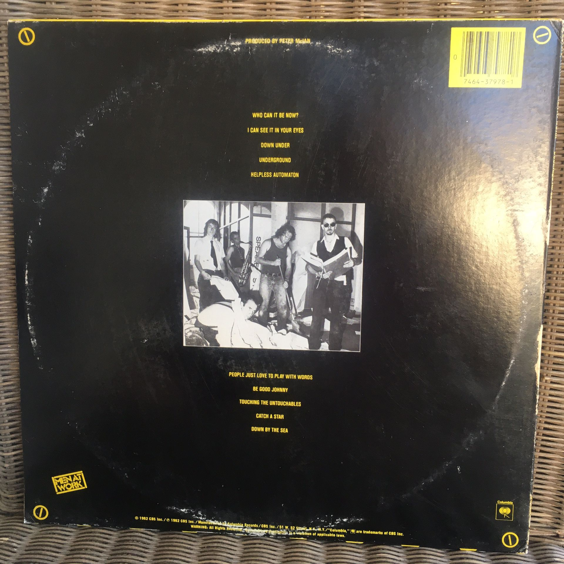 Men At Work Vinyl Record