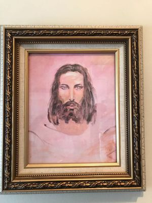 Framed painting of Jesus - $25 for Sale in Reston, VA