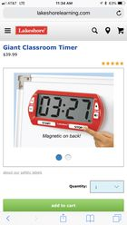 Lakeshore Giant Classroom Timer For Sale In Glendale Ca Offerup