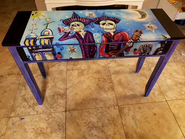 Day Of The Dead Desk Or Entry Way Table
