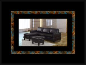 Black sectional with ottoman for Sale in District Heights, MD