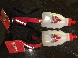 Water bottles with fuel belt attachments and hand grips for Sale in Los Angeles, CA