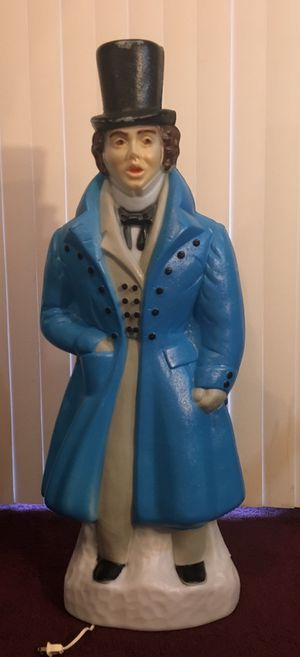 """38"""" lighted caroling man blow mold for Sale in Orlando, FL"""