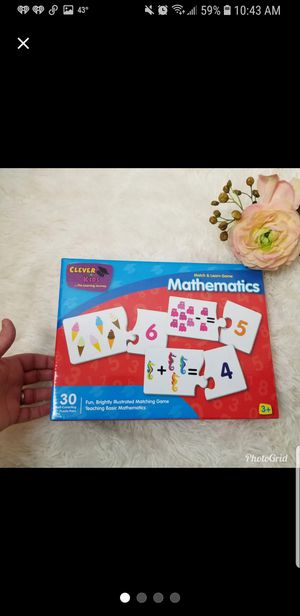 Clever Kids Mathmatics Puzzle Game for Sale in Taylor, MO