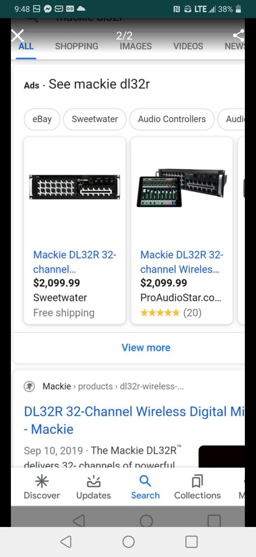 MACKIE DL32R DIGITAL MIXER 32 CHANELS