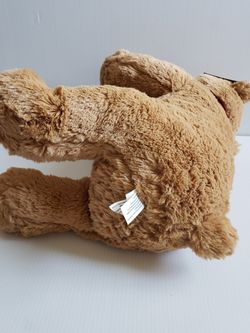 """Quinn The Bear Teddy Bear Quinn Brown Plush Bear With Scarf. Condition is Used With Tags 20"""" Thumbnail"""