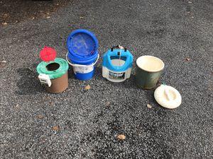Fishing bait buckets for Sale in Nokesville, VA