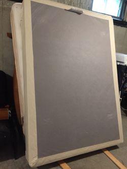 Full size mattress, box, headboard and footboard Thumbnail