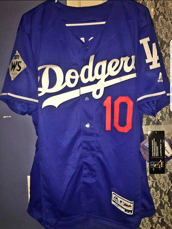 release date: 60e5d 58b77 BRAND NEW Dodgers Blue Justin Turner Baseball Jersey WORLD SERIES PATCH  Everything Stitched for Sale in West Covina, CA - OfferUp