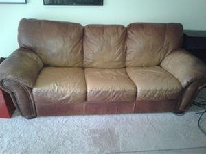 Brown leather couch and loveseat for Sale in Alexandria, VA