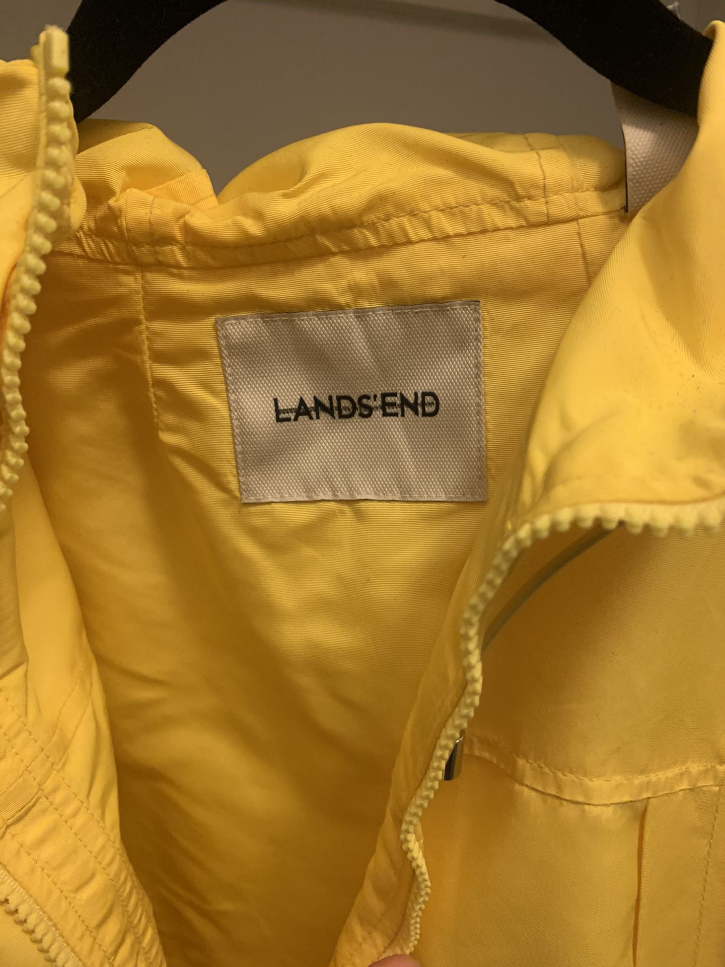 Lands End rain coat