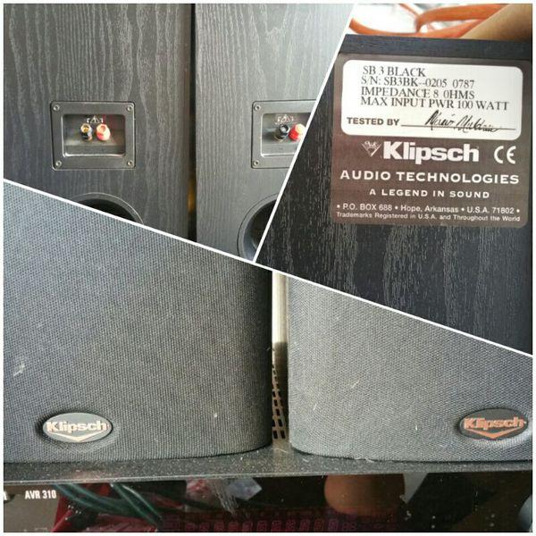 Klipsch SB 3 2 Way 100watt Bookshelf Speaker For Sale In Zephyrhills