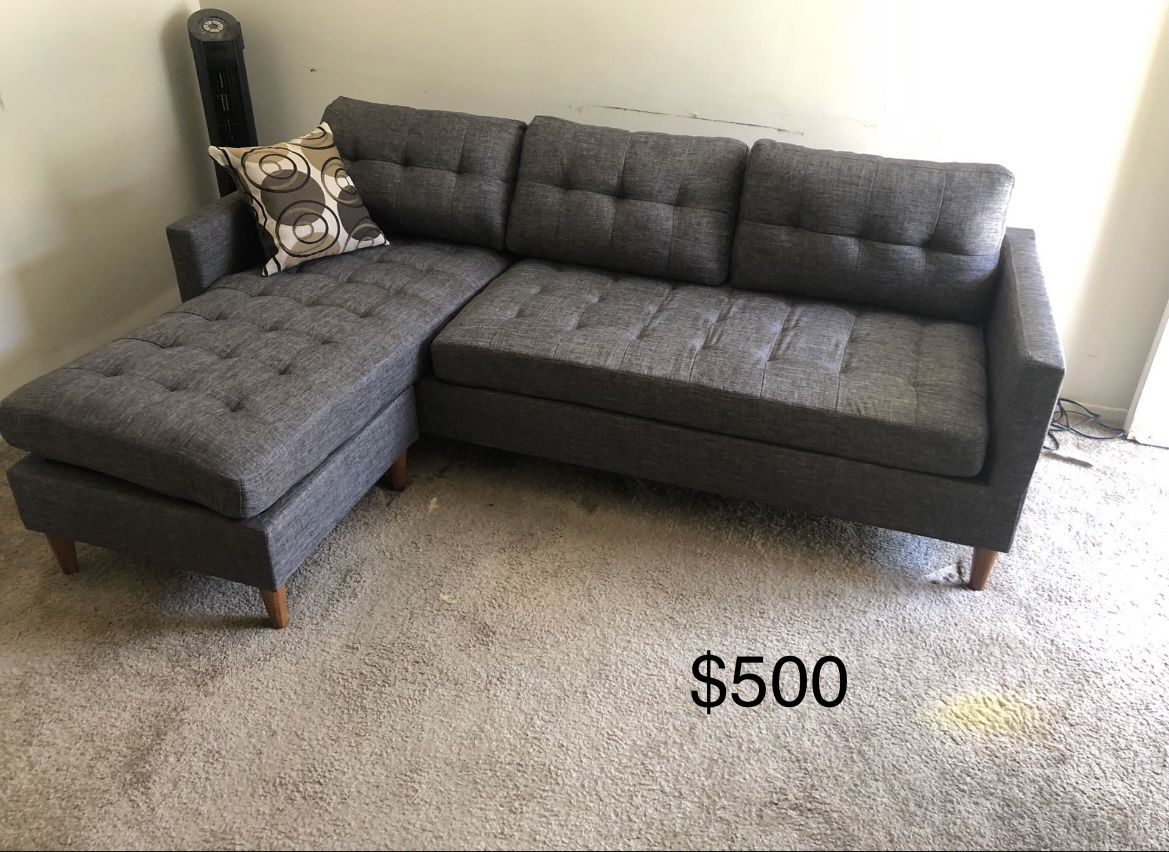 New Gray Secrional Couch / free Delivery