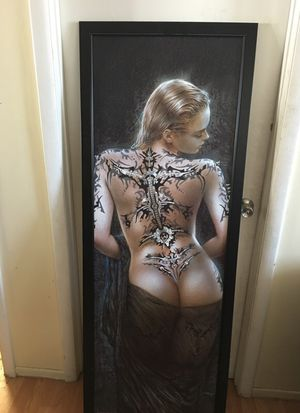 Beautiful painting of a woman with biomechanical tattoo for Sale in Las Vegas, NV