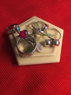 Assorted Sterling Silver Rings 💍 Select the Style you love ❤️💍❤️💍❤️ Ring size #5 for Sale in Lincolnia, VA
