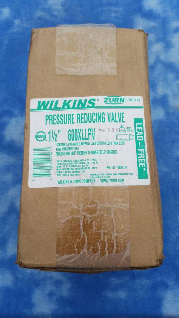 Wilkins Zurn Pressure Reducing Valve # 600XLLPV for Sale in Downey, CA -  OfferUp
