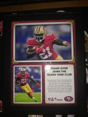 Frank Gore 10,000 yard club plaque for Sale in Tacoma, WA