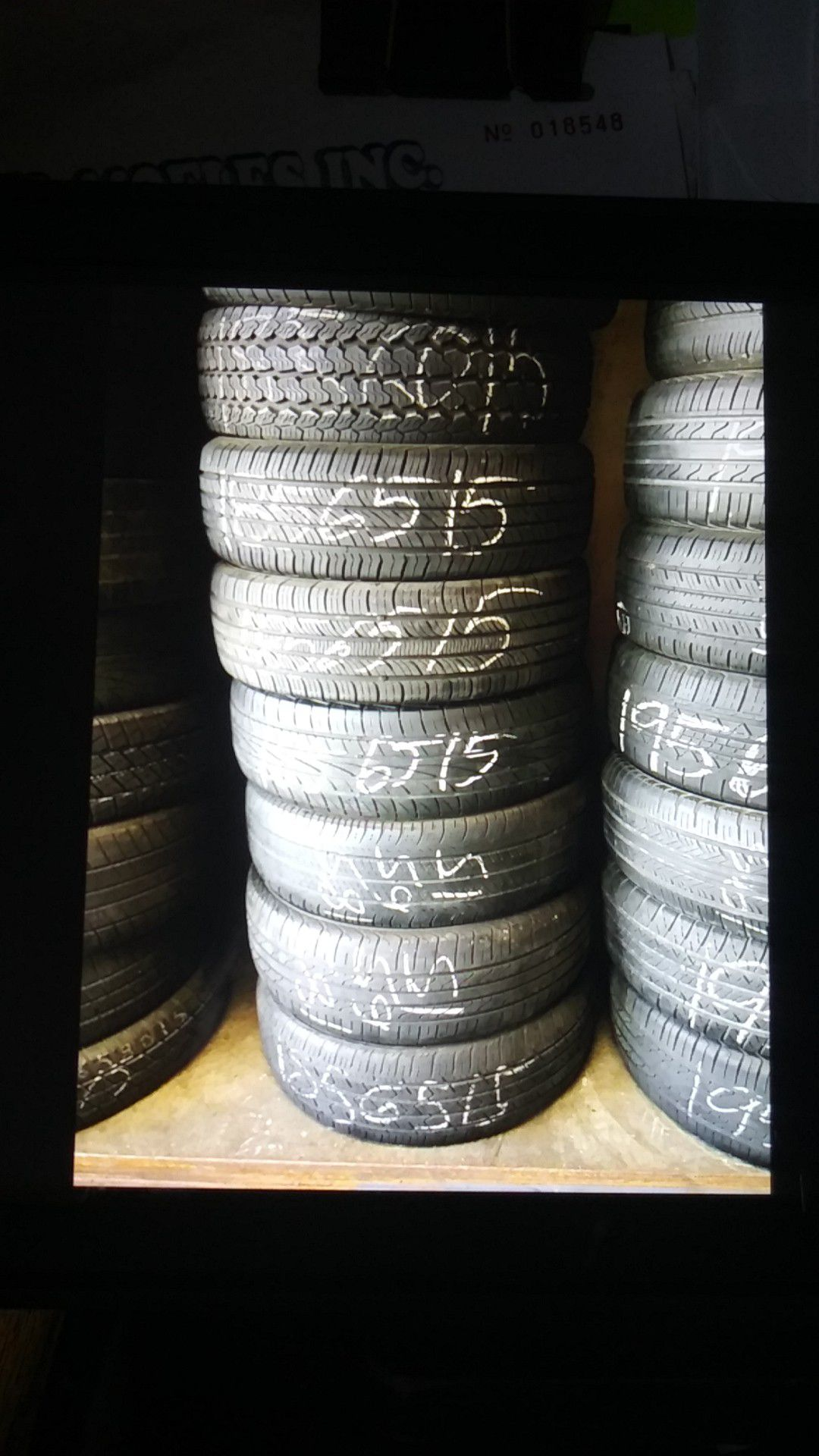 Tire 185 65 15 instaled includes each ELMOFLES