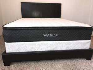 (NEW) warehouse prices- BED Frames + luxury pillow top mattress sets- order it like a pizza 🍕immediate delivery w/warranty (twin,full,queen & king s for Sale in Houston, TX