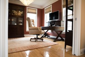 Office Desk & Leather Chair for Sale in New Milford, CT