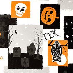 "Way To Celebrate - Halloween Boo PEVA Vinyl Tablecloth 60""x84"" Thumbnail"