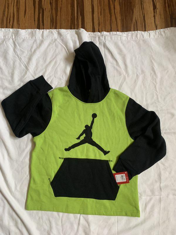 d5a77de261d2 Jordan big boy s Nike jumpman pullover hoodie sz xl green black for ...