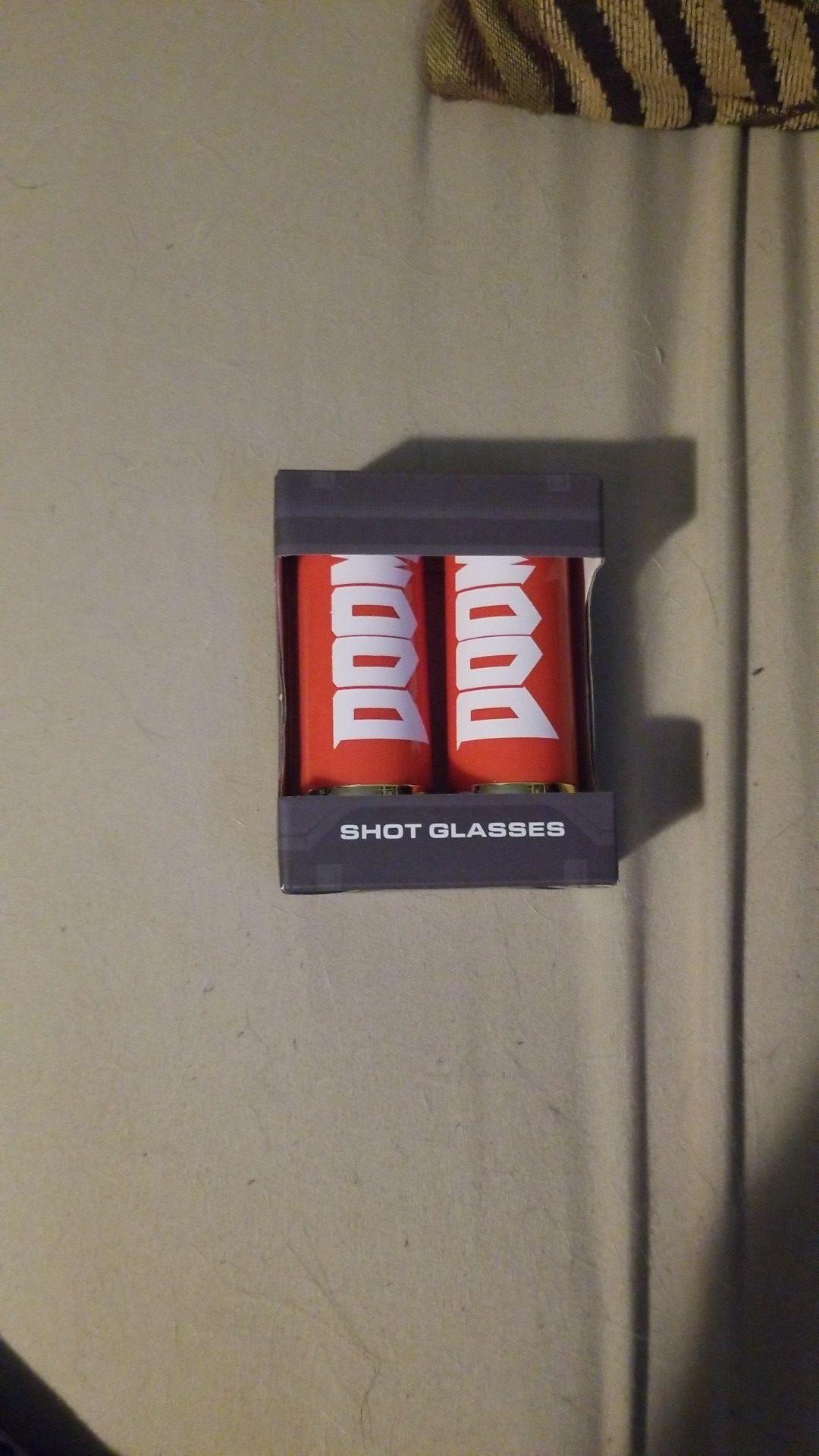 Doom shotgun shell shot glasses