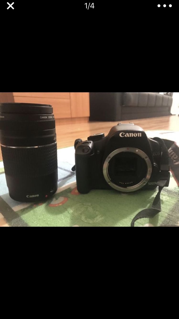 Canon 500D with 75-300mm canon lens