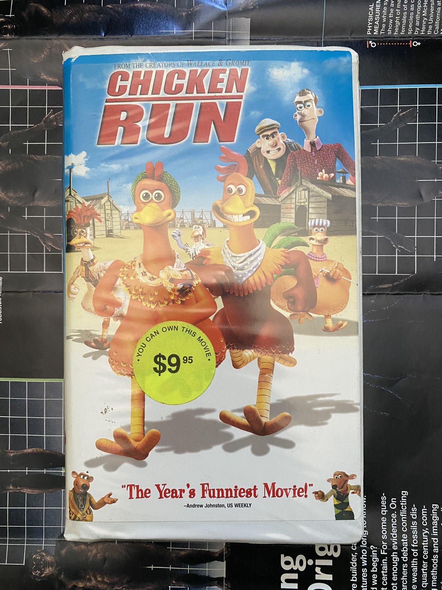 Chicken Run VHS Videocassette Tape Animated Movie Fim
