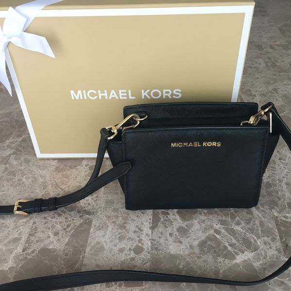 c69783f98aafc Michael Kors Selma Mini Saffiano Leather Crossbody for Sale in ...