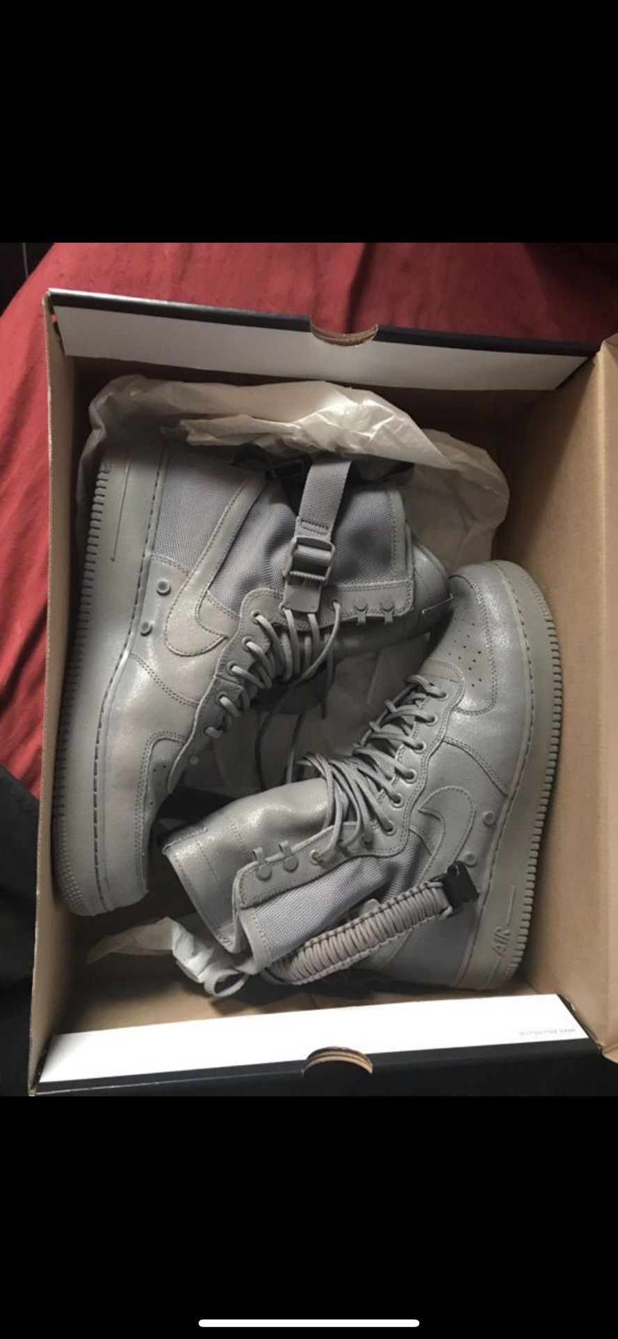 Wolf gray Nike asf. Brand new never work. Size 13. With receipt from original purchase
