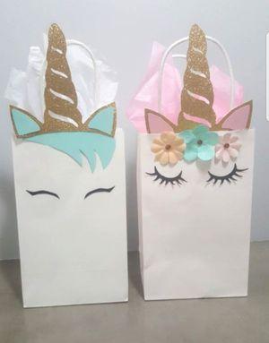 49232c9b2 $1.50 each Unicorn favor/candy bag for girl or boy. Bolsita para dulces de  unicornio para niña o niño. for Sale in Dallas, TX - OfferUp