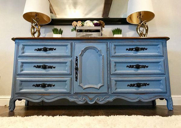 dresser chic sideboard cottage shabby buffet handles vintage mirror with cabinet