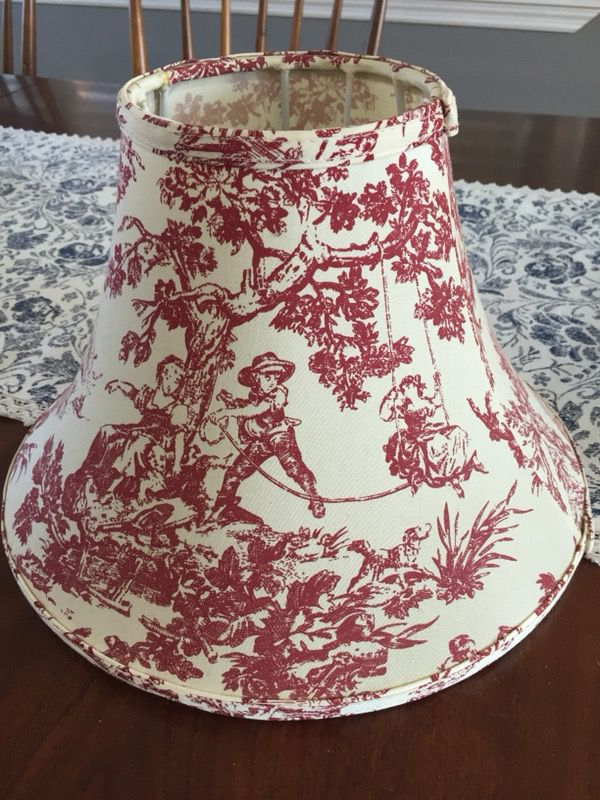 Red toile lamp shade household in ringgold ga offerup aloadofball Choice Image