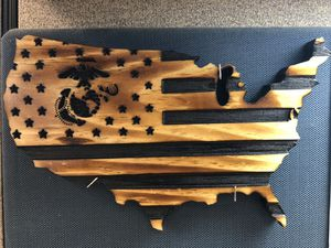 Small United States of America. Measures 10.5 x 12. Any color and any logo design. for Sale in Martinsburg, WV
