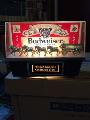 Photo Vintage 1985 Budweiser World Champion Clydesdale Team electric sign