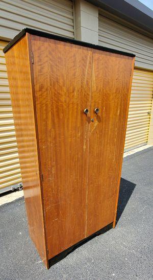 Photo Wood Vintage Wardrobe armoire storage closet