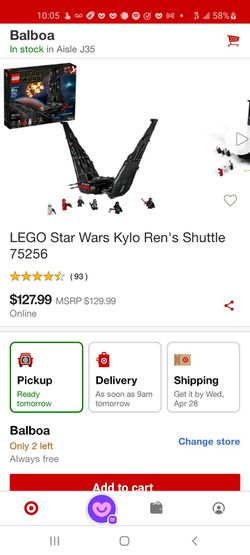 Legos Star Wars Number 752 5 6 Kylo Ren's Shuttle 1005 Pieces Brand New In Box Unopened $75 Retail Value 129 Dollars At Target Thumbnail
