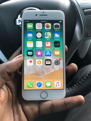 Factory unlock for any carrier iPhone 7 32gb , perfect condition red special edition & also works overseas for Sale in Bowie, MD