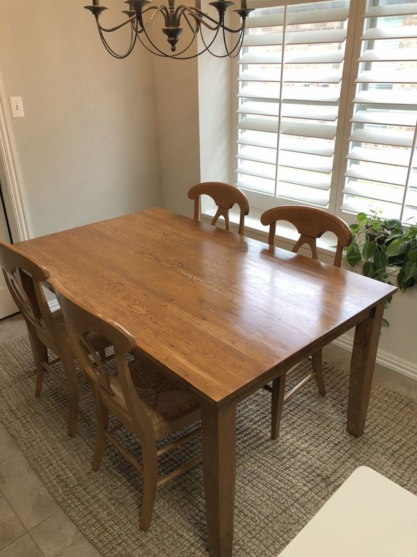 Solid Dining Table Pottery Barn Chairs For Sale In
