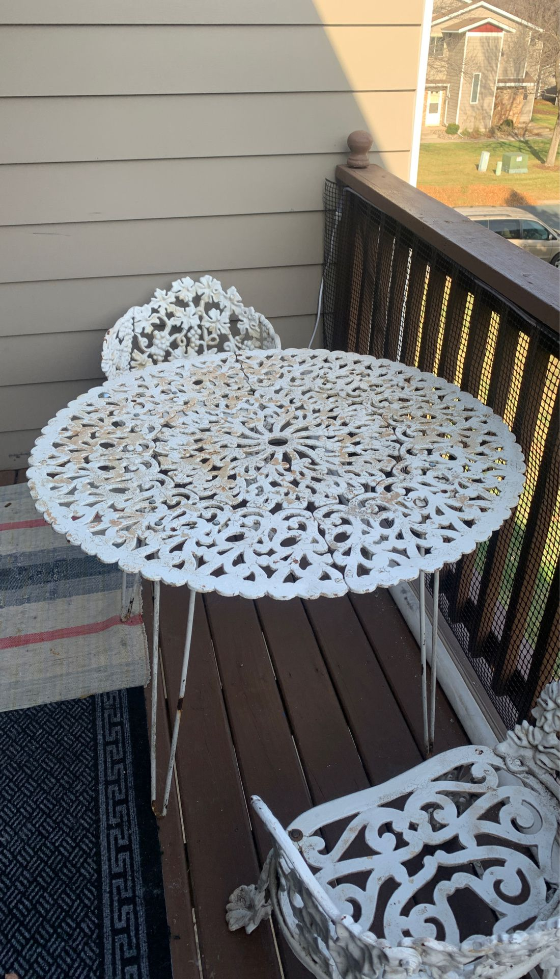Cast iron Garden Table and chairs set