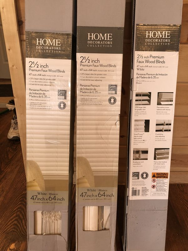 Premium Faux Wood Blinds Home Decorators Collection White 2 1 2