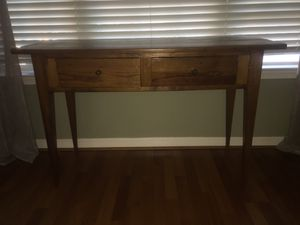 Solid wood console table for Sale in Gaithersburg, MD