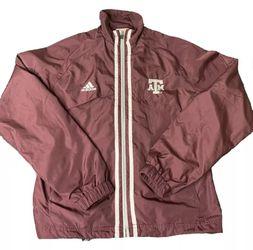 Texas A&M Aggies Dance Team NCAA Adidas Windbreaker Jacket - Women's Size Medium Thumbnail