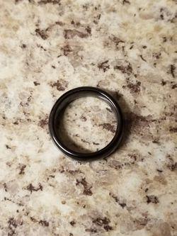 Tungsten carbide 6mm black high polish ring size 7 Thumbnail